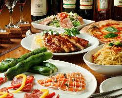 豪華イタリアンパーティー! 旬素材使用の料理コース3,500円〜
