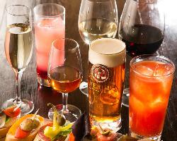 豊富なドリンク オーガニックワインやシェリー酒等も◎
