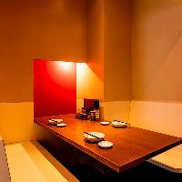 雰囲気のある最大6名様向けボックス型半個室が女子会利用に好評