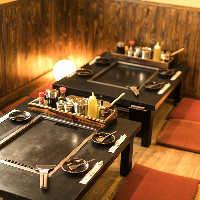 2名様からご利用可能な快適テーブル席!