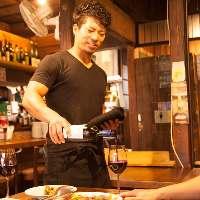 料理とともにお酒もすすみます!ワインの種類は自信アリ!