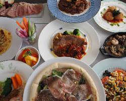 こだわりの盛付けで見た目も美しい料理の数々をお愉しみください