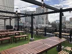開放的な屋上は、ビアガーデンやBBQとしての利用も可能です