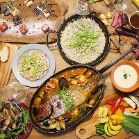 厳選食材を使用したワイガヤのパーティーコース2,500円(税抜)〜