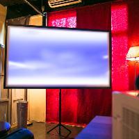 大型スクリーンなどパーティーを盛り上げる設備も充実!