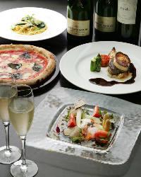 【イタリアン】 季節食材を盛り込んだ彩り豊かなお料理の数々