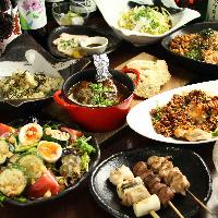お肉屋直営の鶏料理に飲み放題が付いたコースは3,500円~!