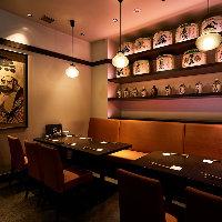 テーブル、カウンター、掘りごたつ席のご用意がございます。