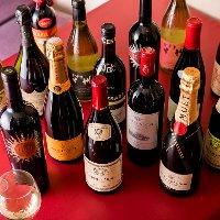 【ボトルワイン】 すべて!原価+1,000円(税抜)でご提供!