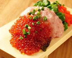 【当店名物!】 赤字覚悟でご提供!豪快なこぼれ寿司は必食