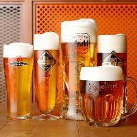 生ビールがなんと5種類も!人気の隅田川ブルーイングもご用意!