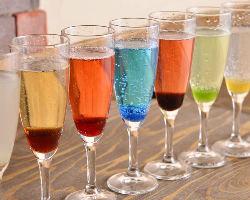 誕生会、合コン、宴会などで◎ 彩り豊かなスパークリングワイン