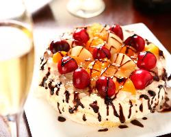 ケーキご用意致します。申しつけ下さい!