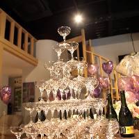 [パーティー演出] シャンパンタワーやバルーン・お花の装飾もOK