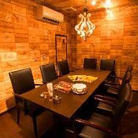 宴会用個室は4名様以上の予約でご利用可能です!