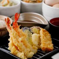 厳選食材の揚げたて天ぷらをご堪能ください!
