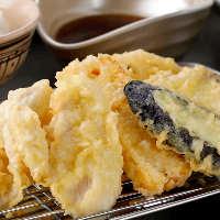 サックサクの天ぷらが2時間食べ放題のお得なコース。