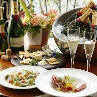 シャンパン、ワイン、厳選したお肉、非日常を感じて下さい。
