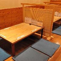 掘りごたつ席は~20名様、テーブル席、カウンター席も有