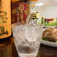 厳選焼酎・日本酒などお酒も豊富。
