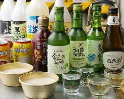 韓国のドリンクも多数ご用意!お好みの一杯が見つかる♪