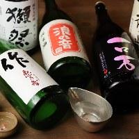 全国から厳選した珍しい日本酒。季節限定ものも入荷してます!