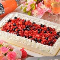 ウェディングケーキは5000円よりご用意可能!