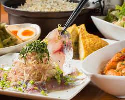 鮮魚に肉料理と豪華ラインナップ「鮮魚と塊肉と旬の食事コース」