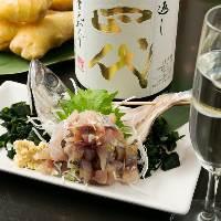 職人が厳選した鮮魚と種類豊富な日本酒で一献!