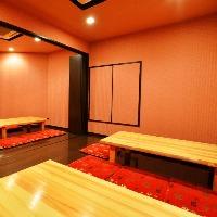 2階は少人数個室完備!! プライベート空間でお楽しみ下さい