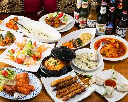 厳選食材を使った本場のアジアン料理。