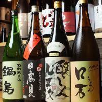 お料理との相性を吟味して、選び抜かれた日本酒