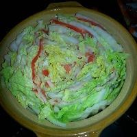 豚肉とたっぷり白菜のミルフィーユ鍋!1人前880円!