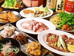 七輪を囲んで焼肉宴会2H飲放付きコース3480円~(税別)