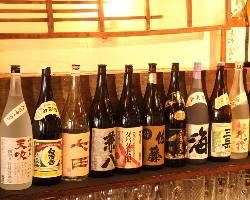 焼酎、日本酒、季節によってご用意致しております。