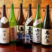 日本全国の厳選した地酒や焼酎を多数取り揃え!!