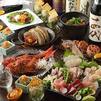 【接待や会食に】 毎朝仕入れる旬鮮魚を使ったコースをご用意。