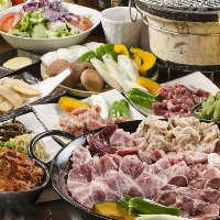 厳選肉を堪能する2時間飲み放題付コースは3,850円(税抜)から