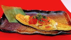 シャケハラス串の刻み野菜かけ!