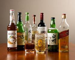 お酒の種類も豊富です!
