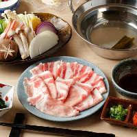 豚肉も国産ブランド豚を使用。脂のうま味をご堪能いただけます