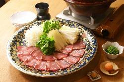 冬はごはんと相性のいいぶりしゃぶなど、鍋料理も評判。
