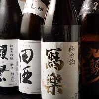 厳選日本酒のラインナップが充実!お好みの一杯を・・・