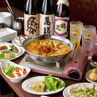 【宴会】 飲み放題付宴会コースは歓送迎会などに便利!