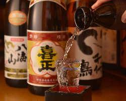 日本酒にも自信あり。お料理に合わせてお召し上がりください。