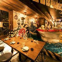 新橋で漁船を眺めながら漁業団自慢の鮪をご堪能できる居酒屋!