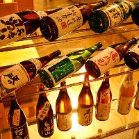 全国各地の日本酒・焼酎を豊富に取り揃えてます。