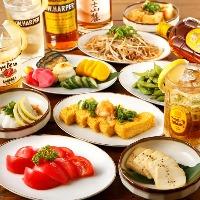 鉄板料理以外にもお酒がすすむ一品料理も多数ご用意