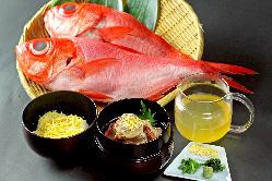 限定5食!金目鯛の黄金茶漬け