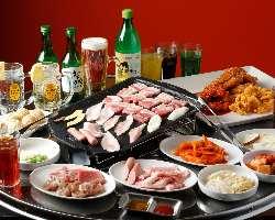 ◆肉好き必見豚.COMコース3,280円女子会・各種ご宴会に!